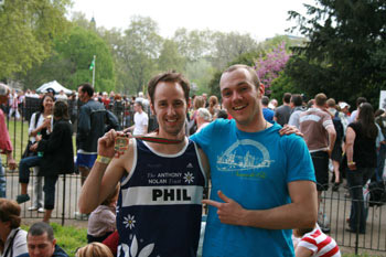 Phil and Adrian at the Marathon